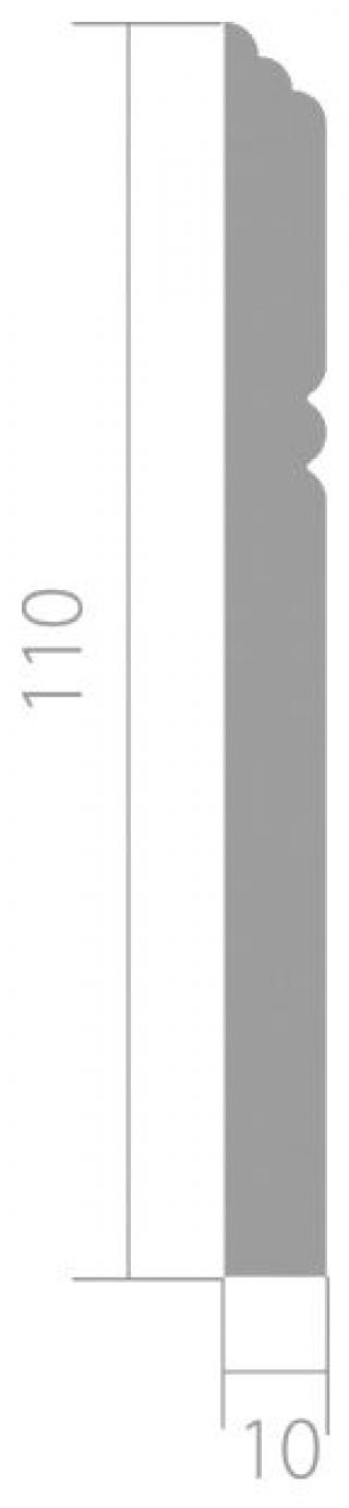 Плинтус 2400x110x12